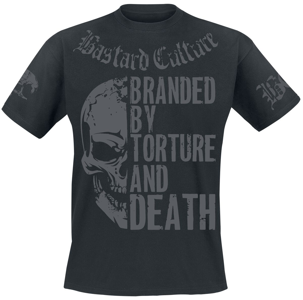 Image of Bastard Culture Branded By Torture And Death T-Shirt schwarz