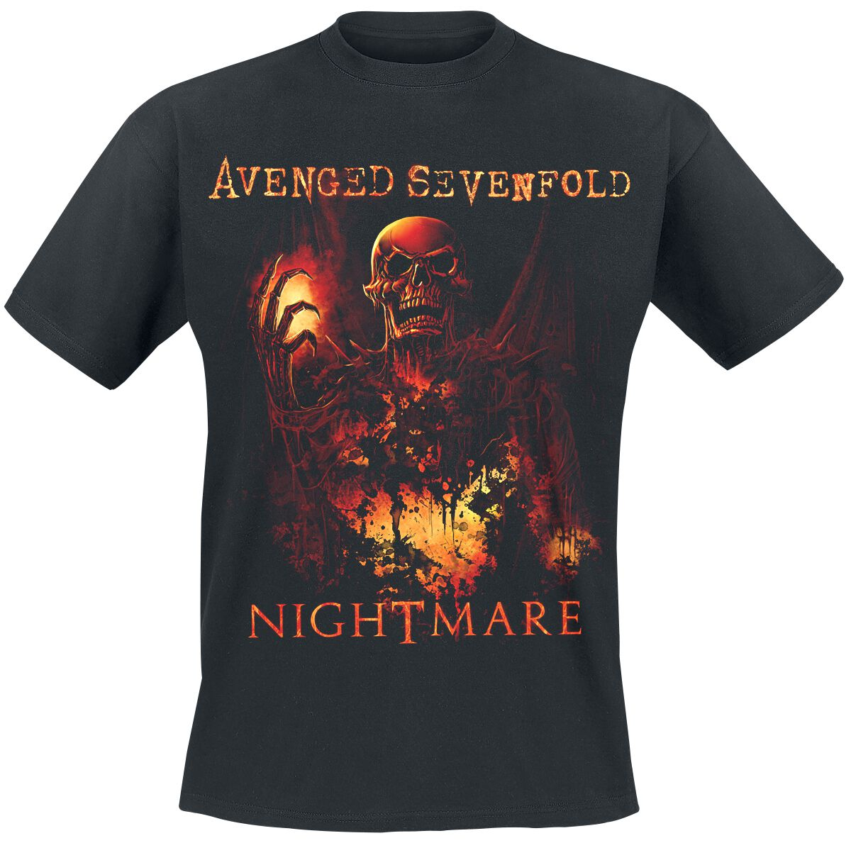 Image of Avenged Sevenfold Nightmare T-Shirt schwarz