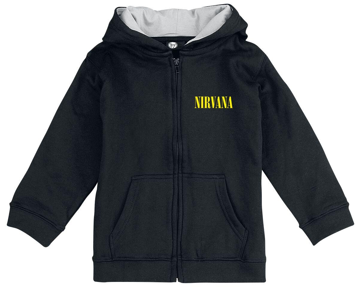 Image of Nirvana Smiley Baby-Kapuzenjacke schwarz