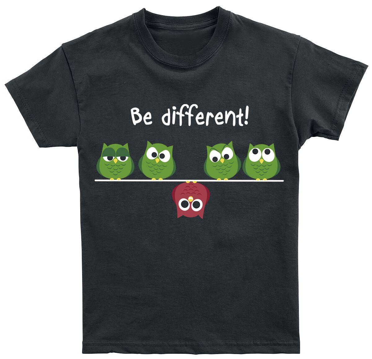 Image of Be Different! Maglia bimbo/a nero