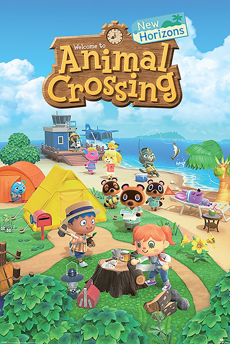 Image of Animal Crossing New Horizons Poster multicolor