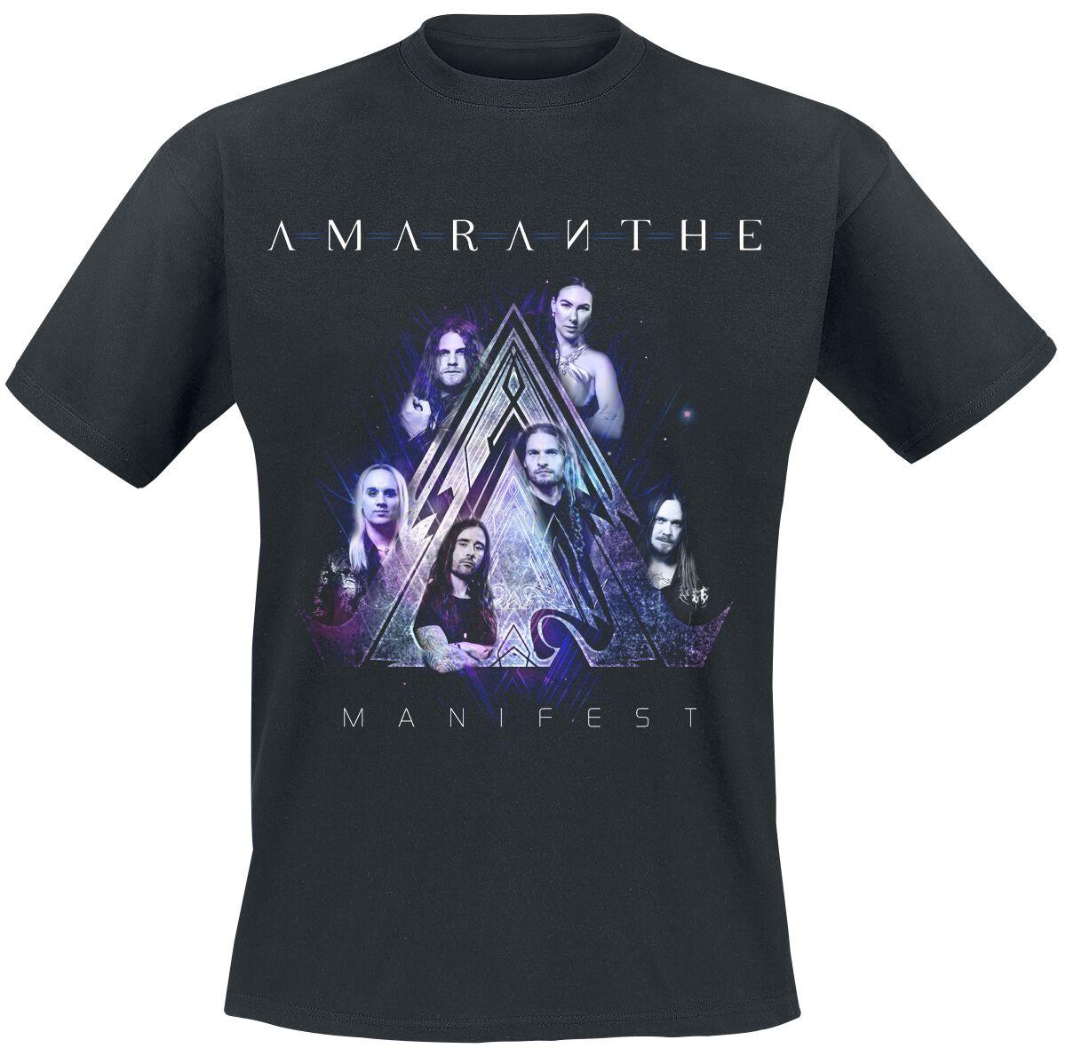 Image of Amaranthe Manifest Band Photo T-Shirt schwarz