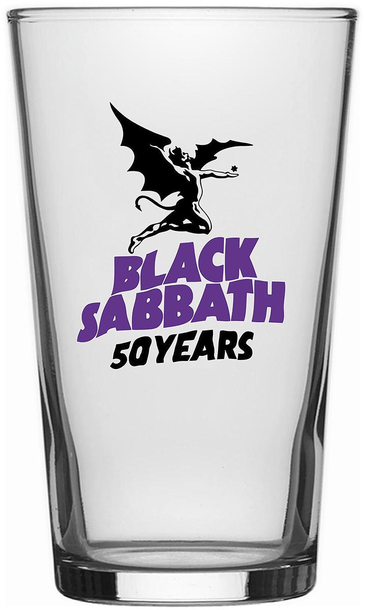 Black Sabbath - 50 Years - Pint-Glas - klar