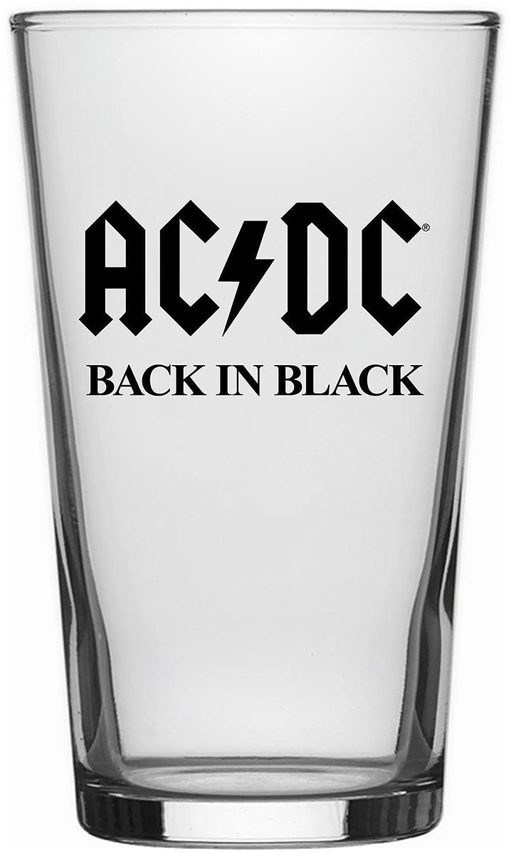 AC/DC - Back in Black - Pint-Glas - klar