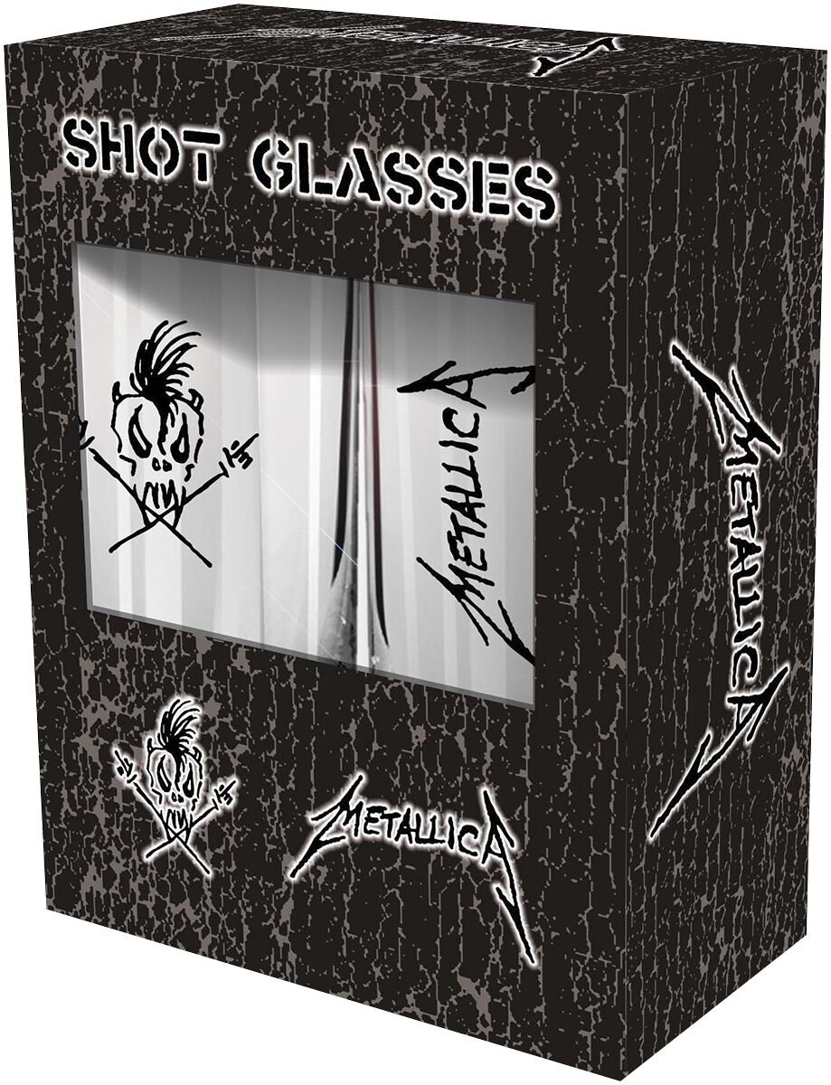 Metallica Scary Guy Schnapsglas-Set klar SG002