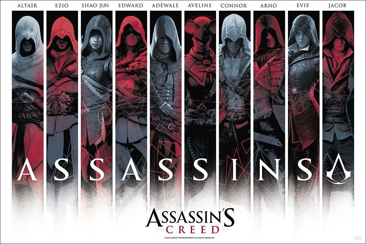 Image of Assassin's Creed Assassins Poster multicolor