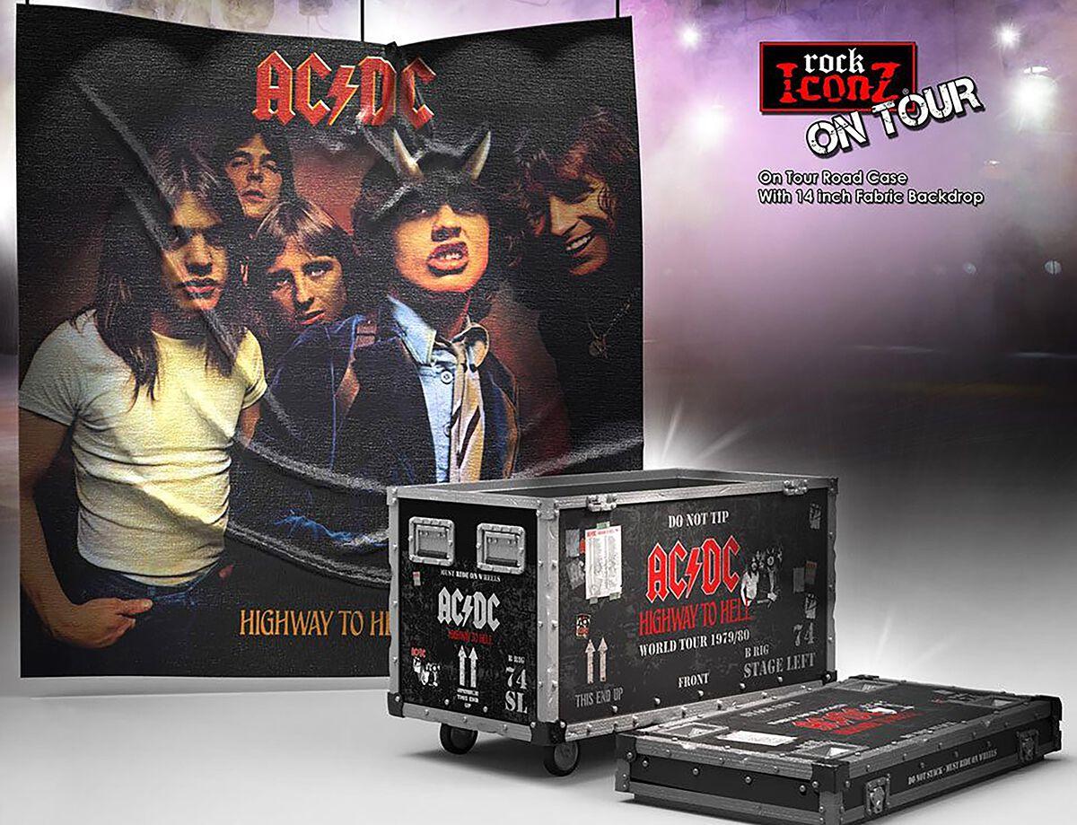 AC/DC Rock Ikonz On Tour Highway to Hell Road Case Statue & Bühnenhintergrund Set Statue multicolor KBACDCHHRC100