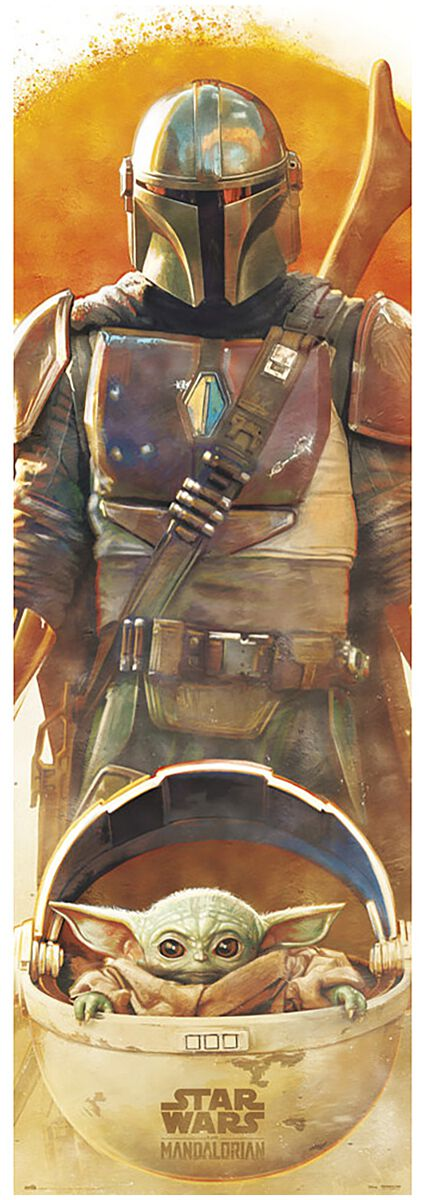 Image of Star Wars The Mandalorian mit the Child Door-Poster multicolor