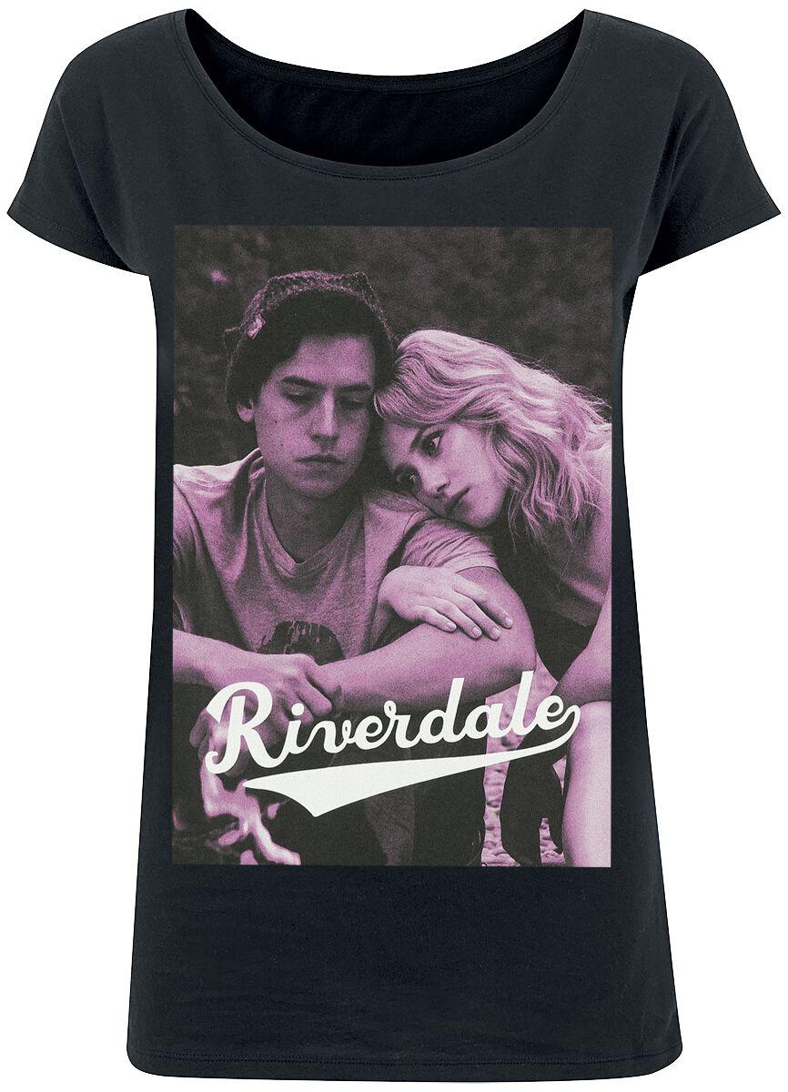 Riverdale Bughead - Betty & Jughead T-Shirt schwarz POD - M399659 - BY039