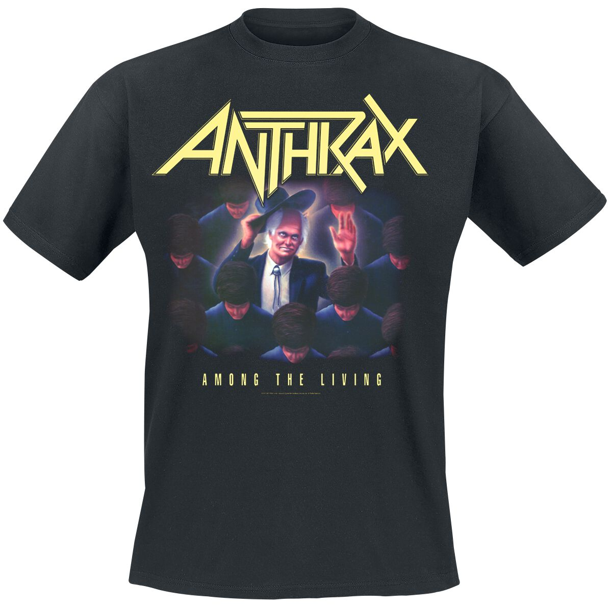 Image of Anthrax Among The Living T-Shirt schwarz
