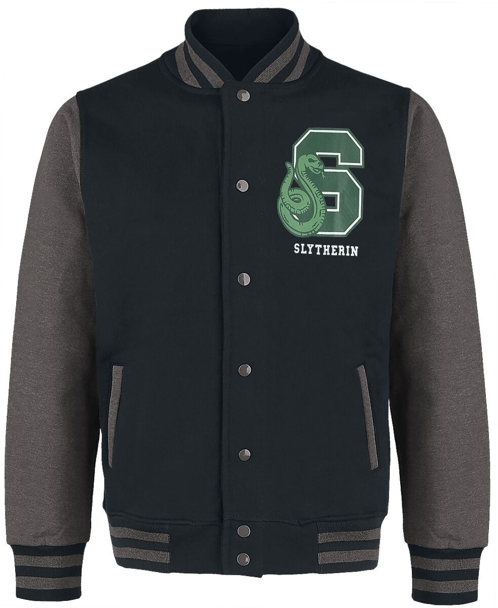 Image of Harry Potter Slytherin - Quidditch College-Jacke schwarz/grau meliert