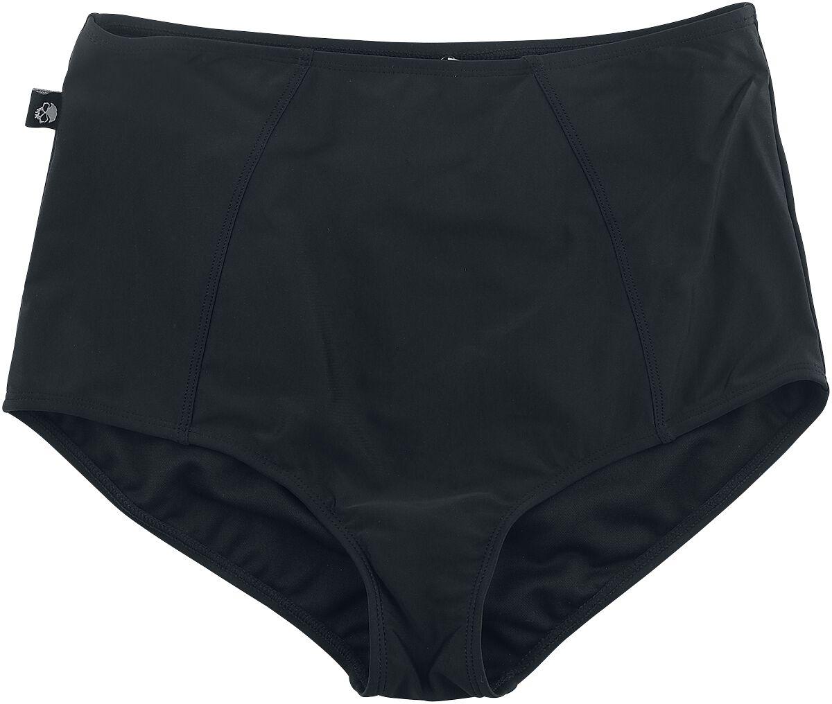 Image of Black Premium by EMP Schwarze High Waist Bikinihose Bikini-Slip schwarz