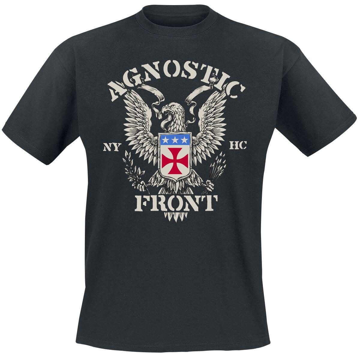 Image of Agnostic Front Eagle Crest T-Shirt schwarz