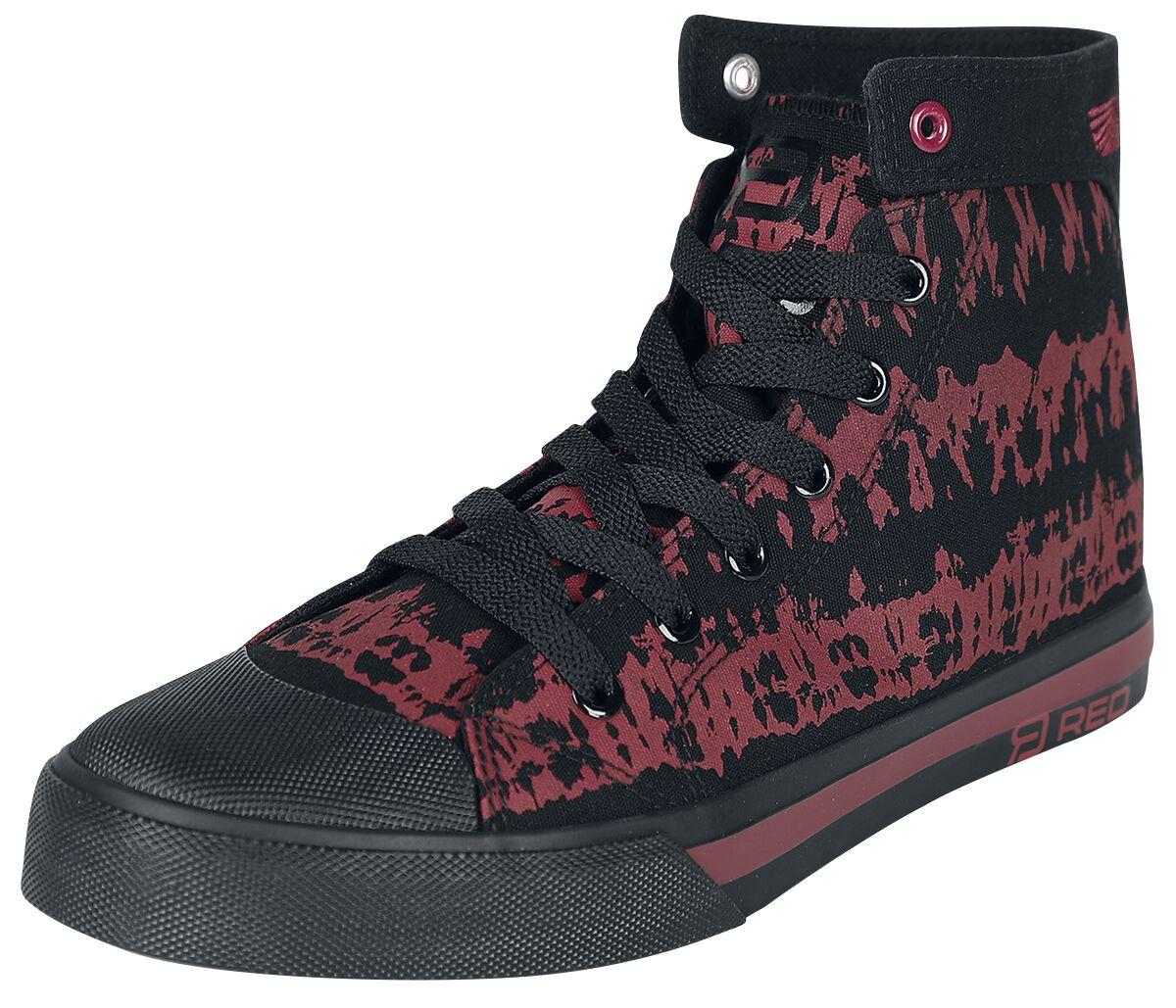 RED by EMP Rot/schwarzer Sneaker im Batik-Look Sneaker high rot schwarz M409886