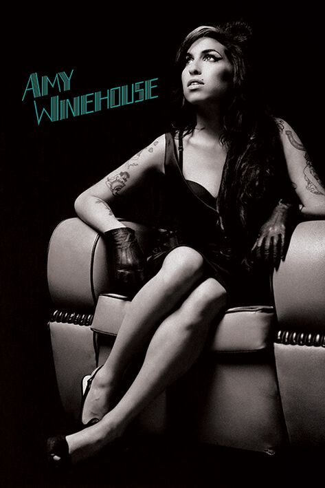 Image of Amy Winehouse Chair Poster multicolor