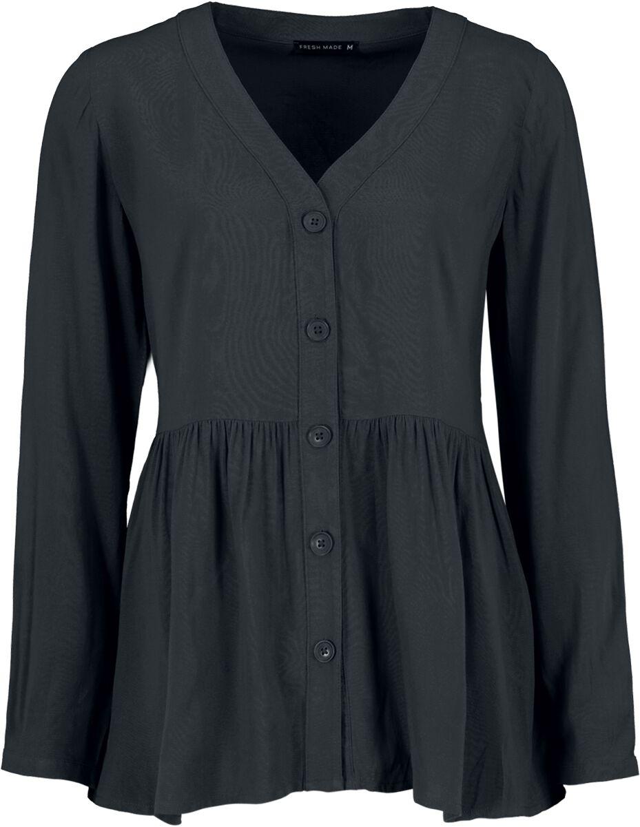 Image of Fresh Made Ladies Blouse Bluse schwarz