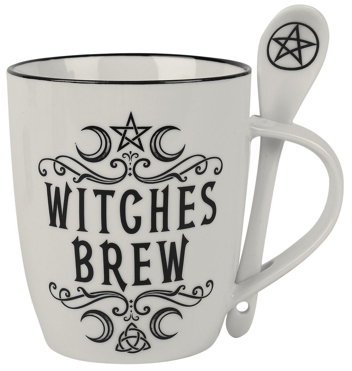 Alchemy England 1977 Witches Brew Tasse weiß schwarz ALMUG16