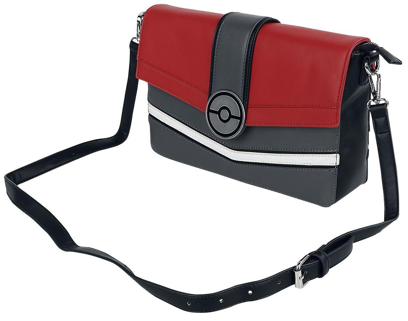 Pokémon Pokeball Umhängetasche schwarz rot weiß M410693
