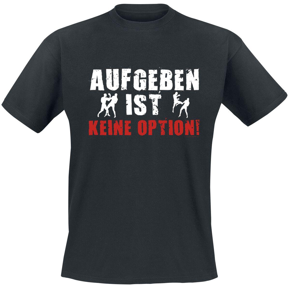 Image of Aufgeben ist keine Option T-Shirt schwarz