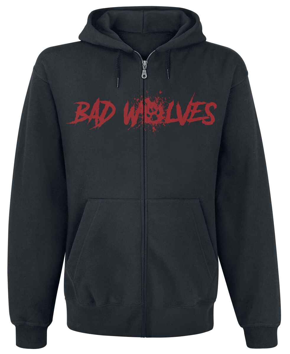 Image of Bad Wolves Paw Logo Shield Kapuzenjacke schwarz