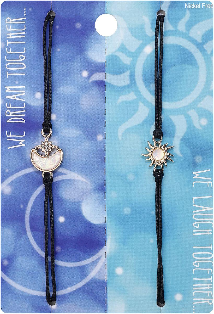 Image of Blackheart Sun Moon Opal Bestie Armband-Set Standard