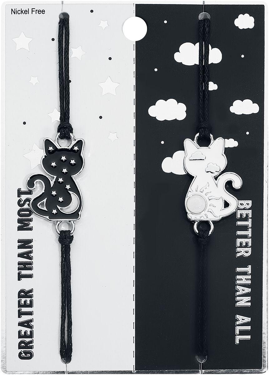 Image of Blackheart Bestie Ying Yang Cats Armband-Set Standard