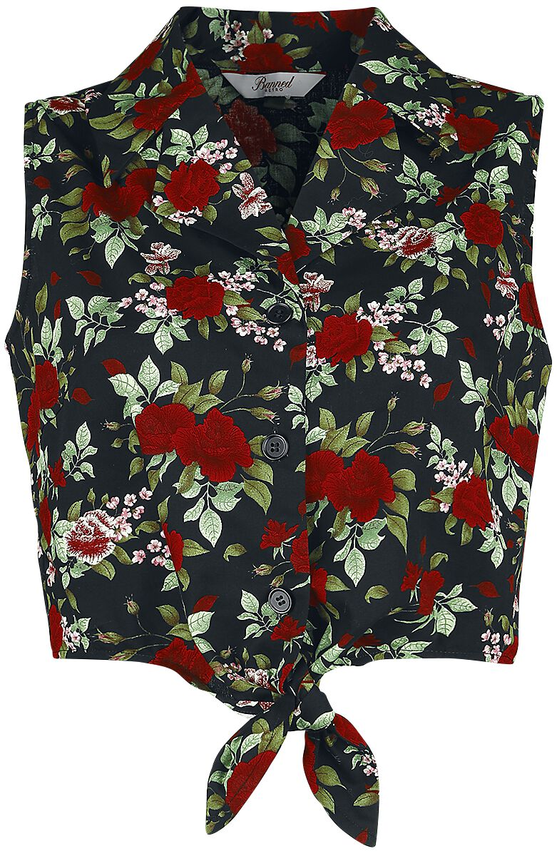 Image of Banned Retro Rose Garden Blouse Bluse multicolor