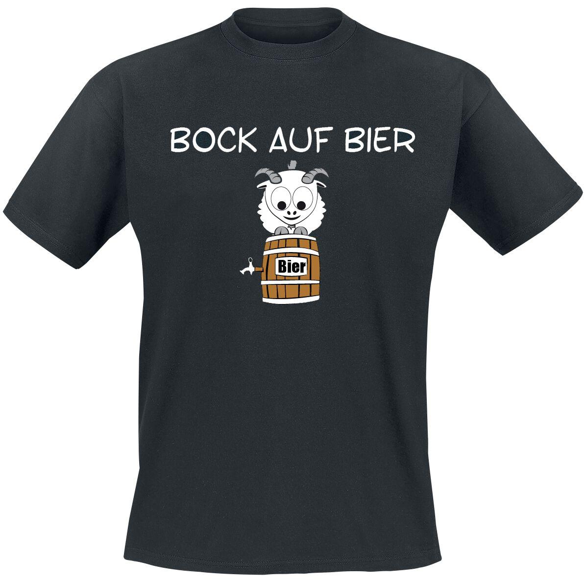 Bock auf Bier T-Shirt schwarz T2498