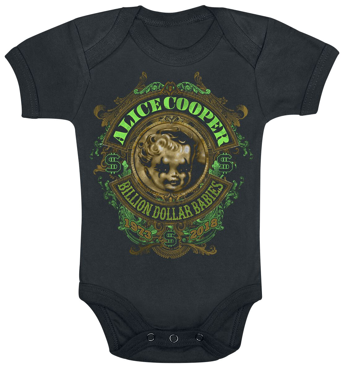 Image of Alice Cooper BDB Anniversary Crest Body schwarz