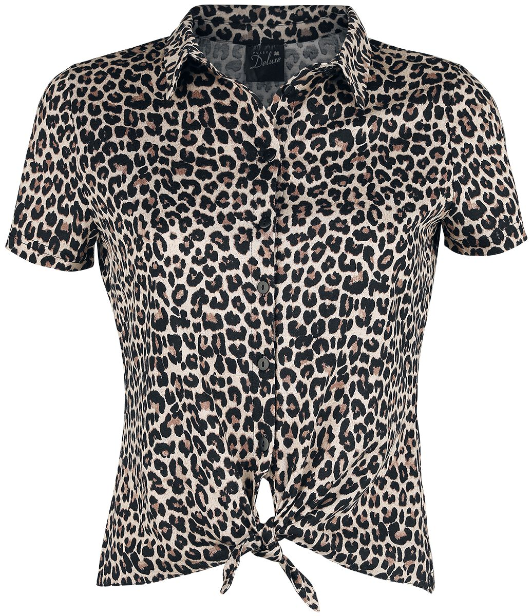 Pussy Deluxe Leo Short Blouse Bluse leopard 392260