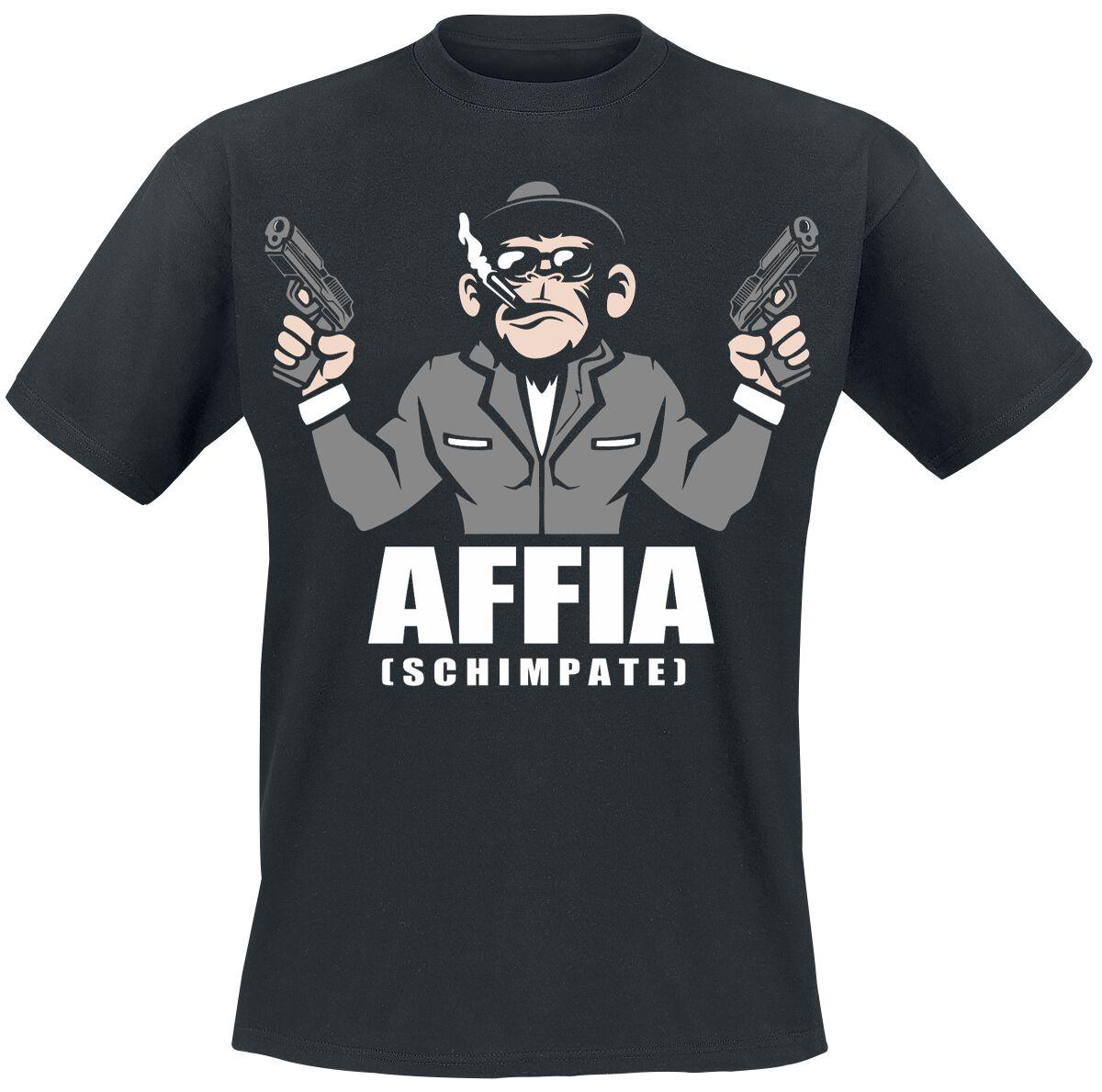 Image of Affia (Schimpate) T-Shirt schwarz