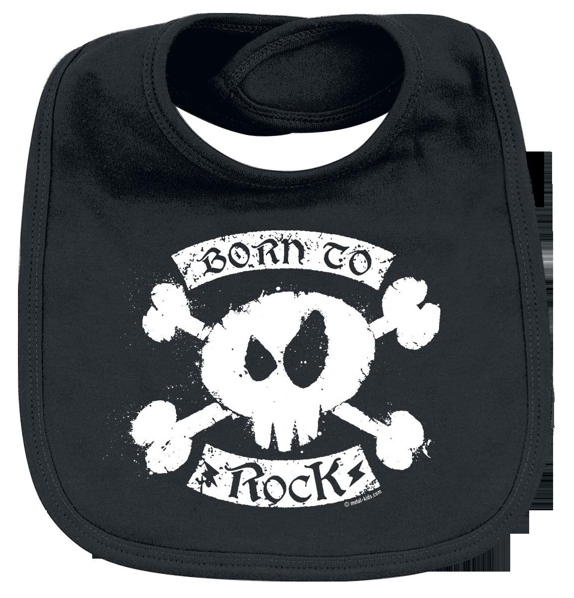 Metal Kids - Born To Rock - Lätzchen - schwarz