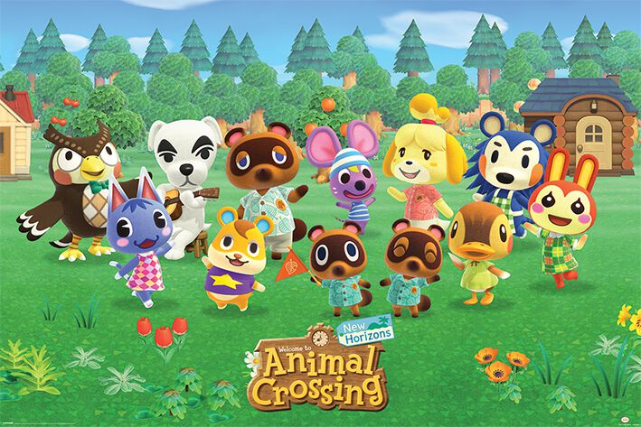 Image of Animal Crossing Lineup Poster multicolor
