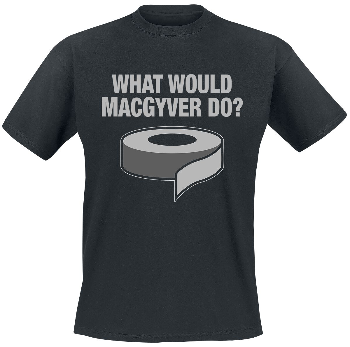 MacGyver What Would MacGyver Do? T-Shirt schwarz CBS-1-MG 005-H4- 10-BK-M