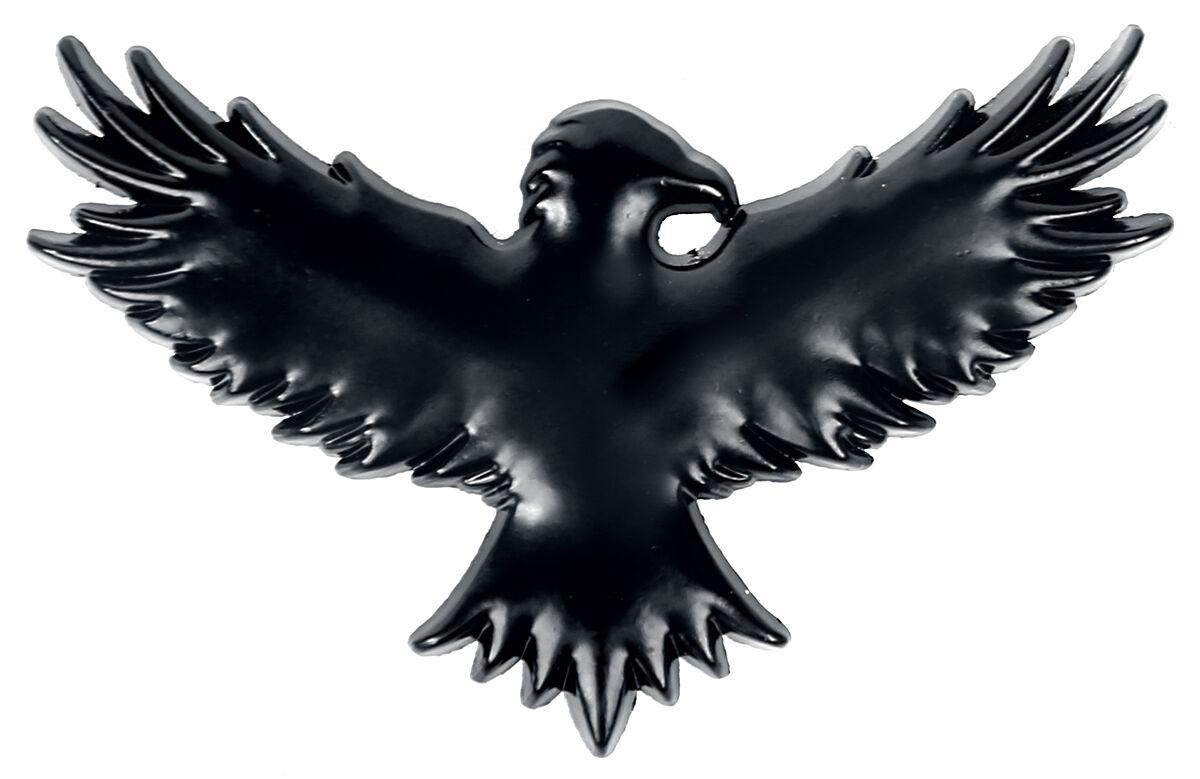 Image of Black Premium by EMP Black Crow Button schwarz