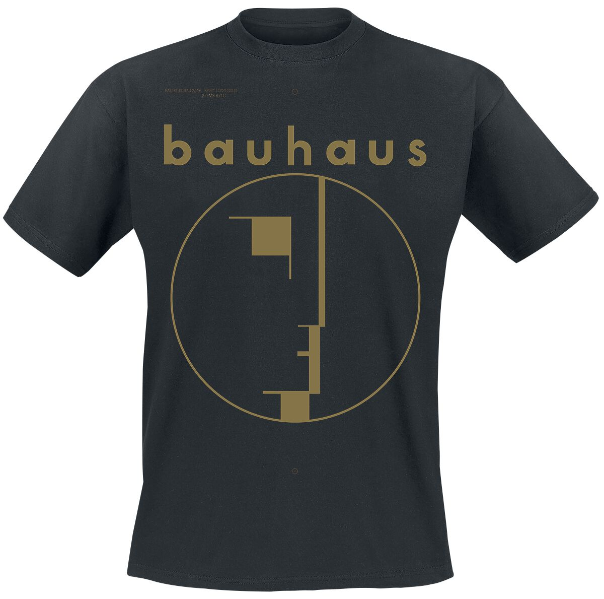 Image of Bauhaus Spirit Logo Gold T-Shirt schwarz