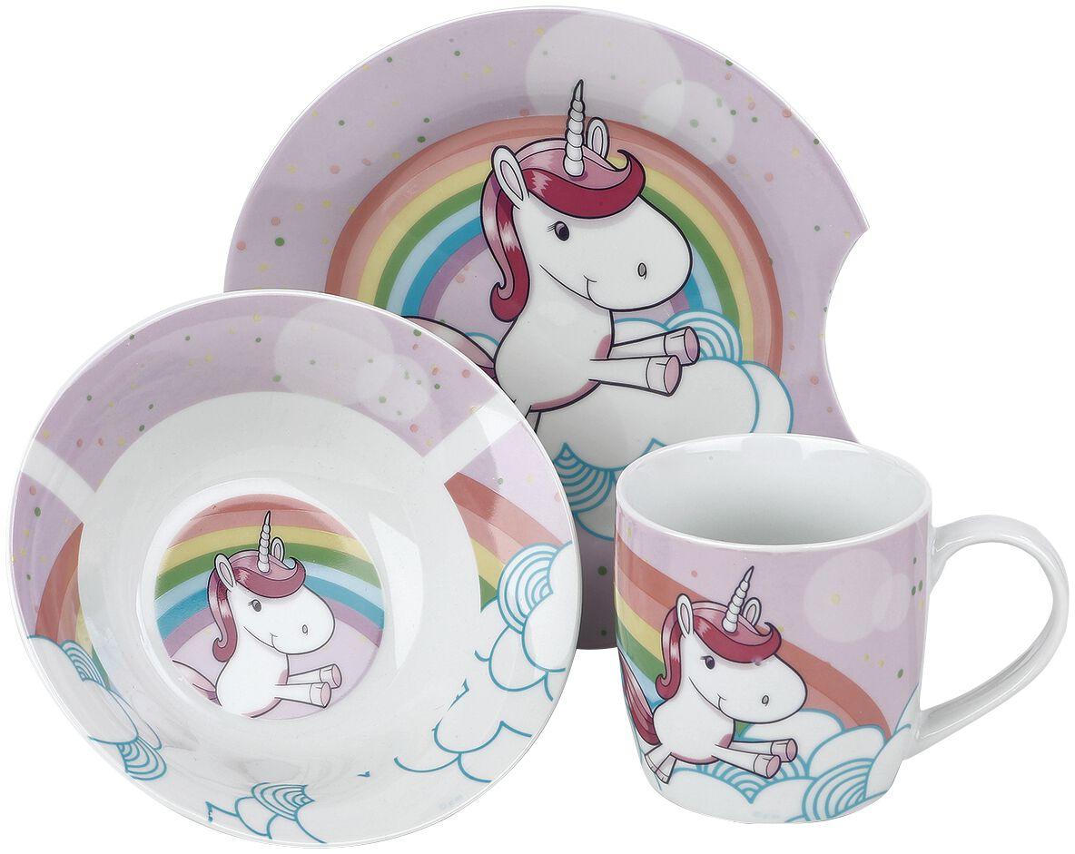 Einhorn Frühstücksset Frühstücks-Set multicolor 27546