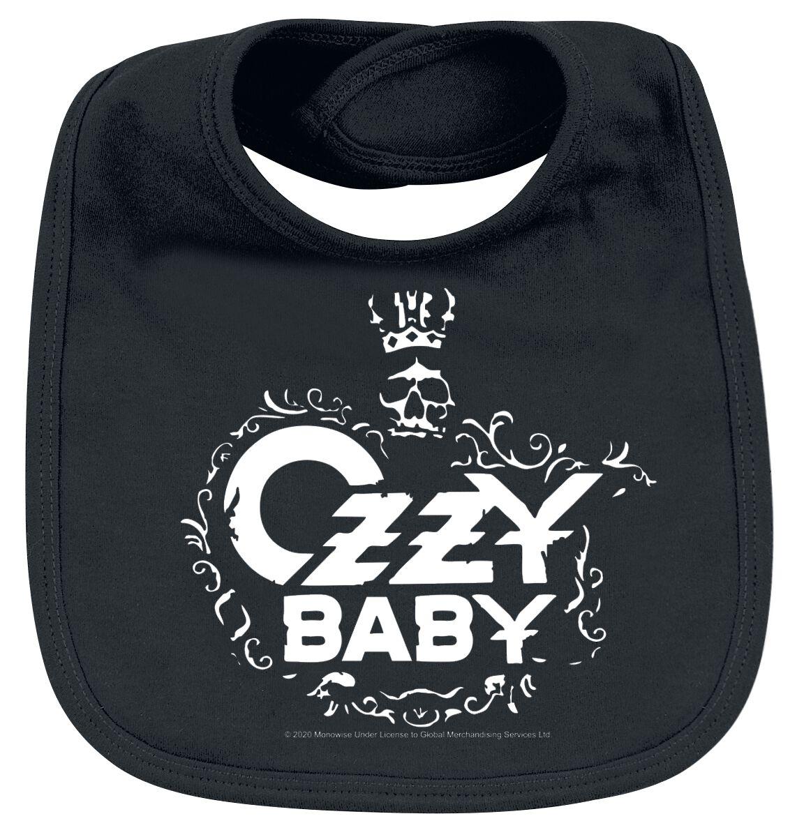 Image of Ozzy Osbourne Ozzy Baby Baby Lätzchen schwarz