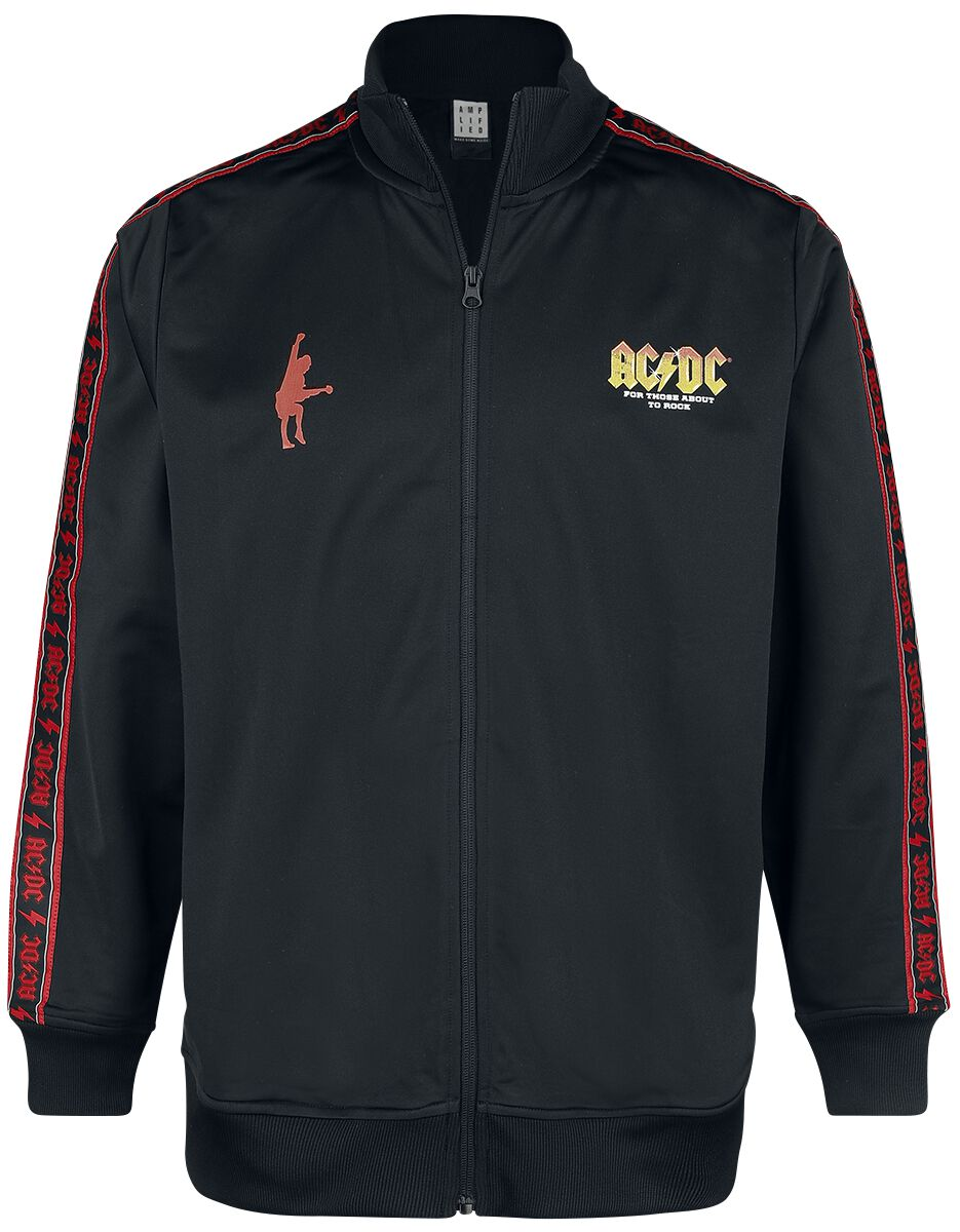 Image of AC/DC Amplified Collection - For Those About To Rock Trainingsjacke schwarz