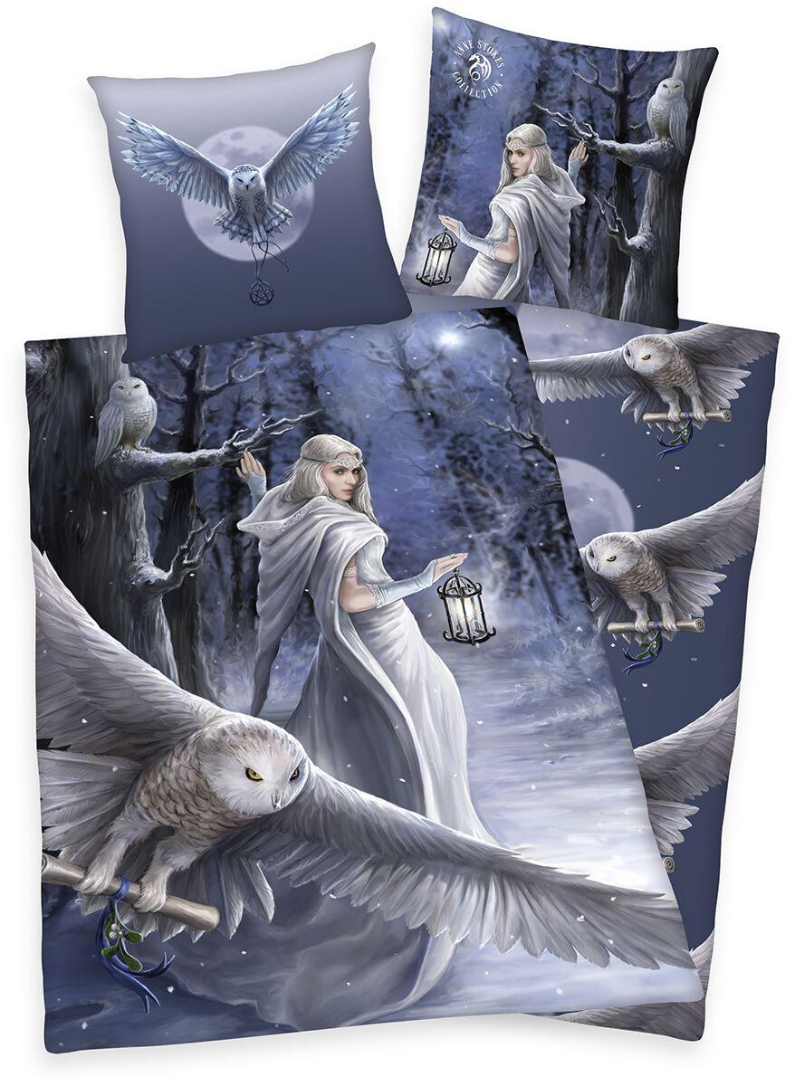 Image of Anne Stokes Mystic Owl Bettwäsche multicolor