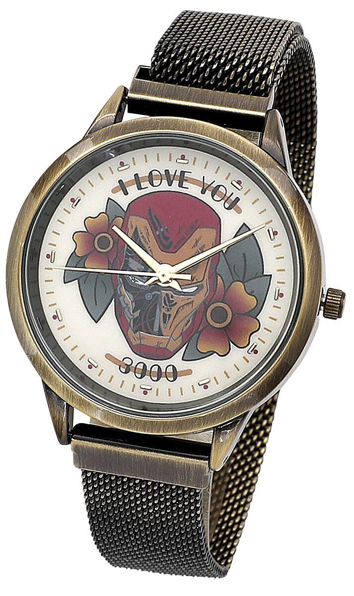 Iron Man - Flowers - Armbanduhren - goldfarben