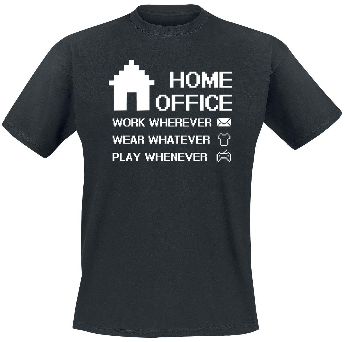 Home Office   T-Shirt  schwarz