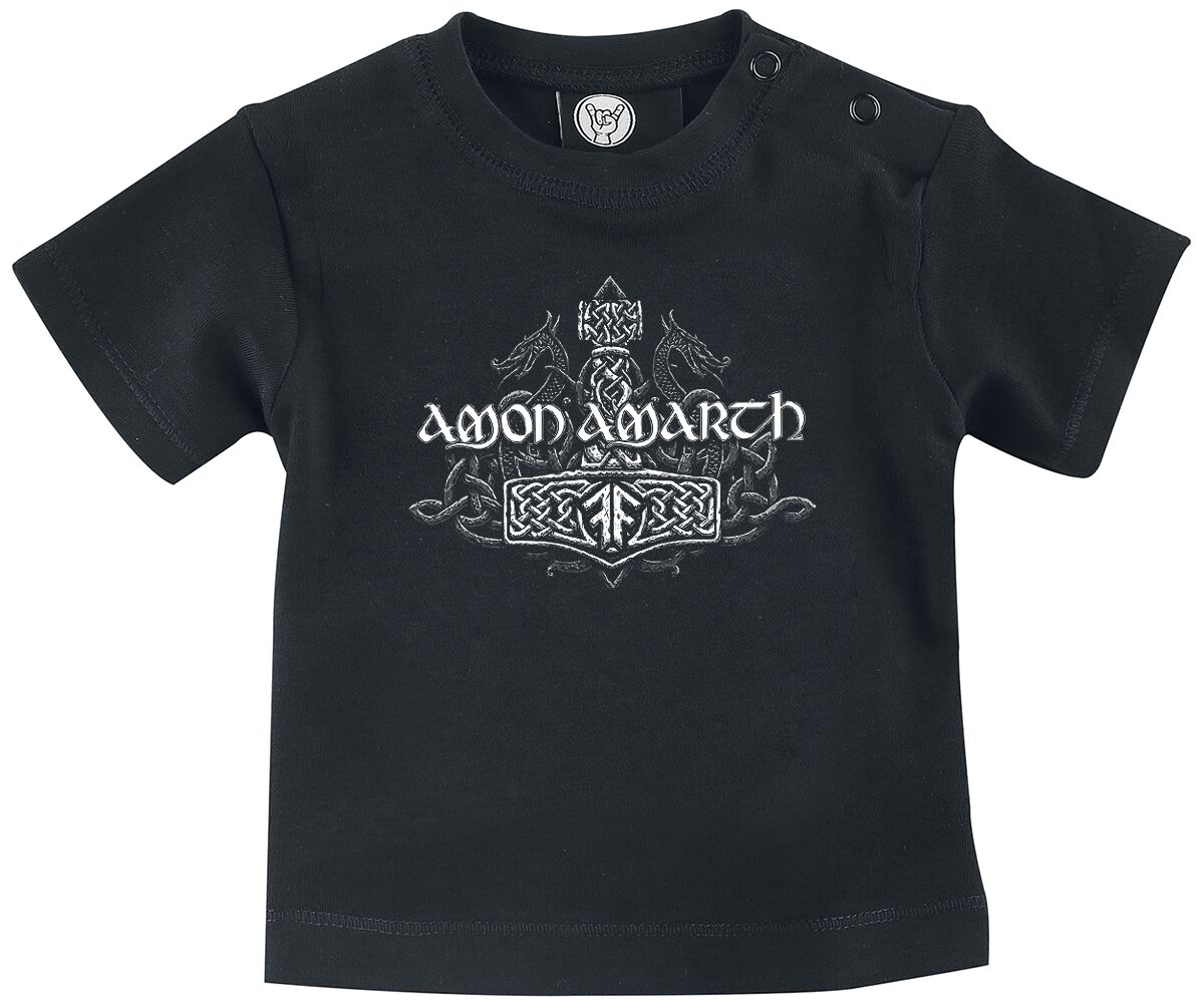Image of Amon Amarth Thors Hammer Baby-Shirt schwarz