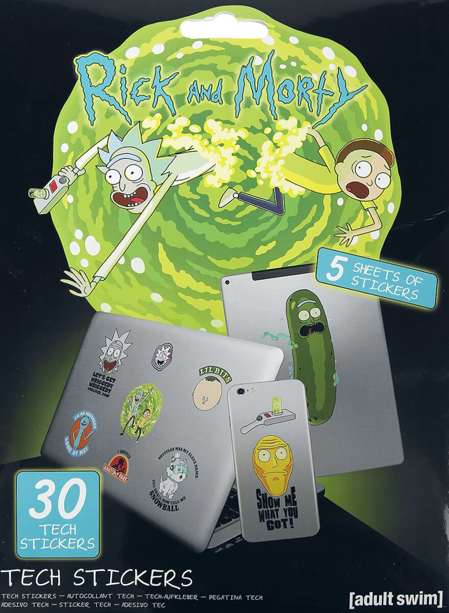Image of Rick And Morty Adventures Aufkleber-Set multicolor