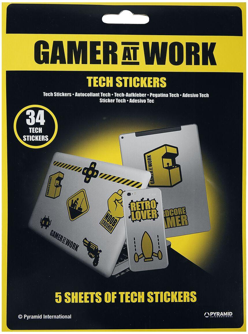 Image of Gamer At Work Retro Lovers Aufkleber-Set multicolor