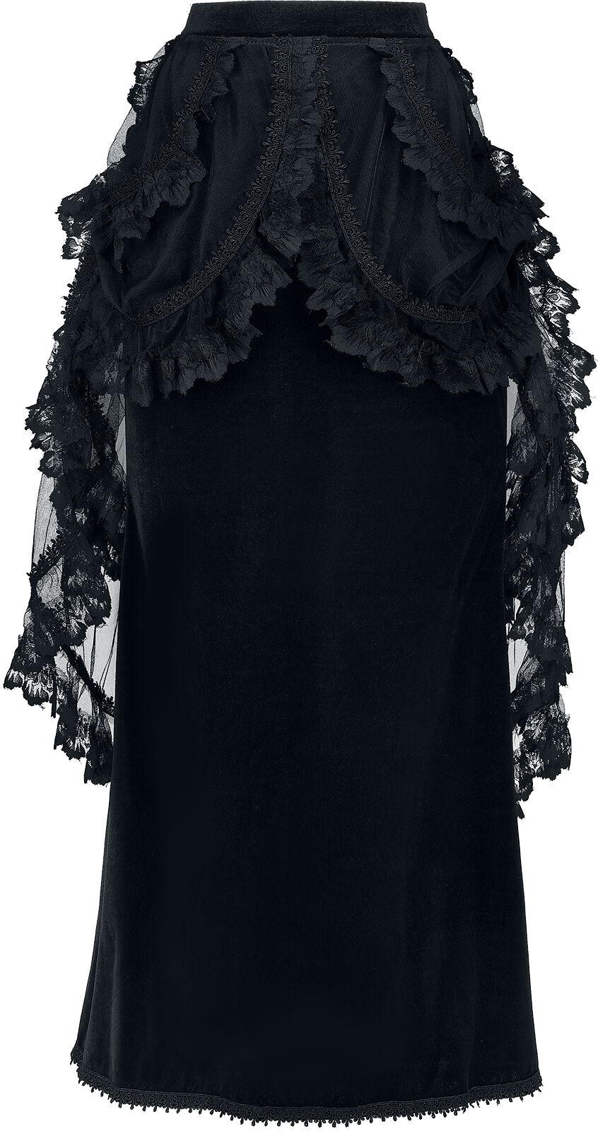 Sinister Gothic Gothic Skirt Langer Rock schwarz 972 BLACK