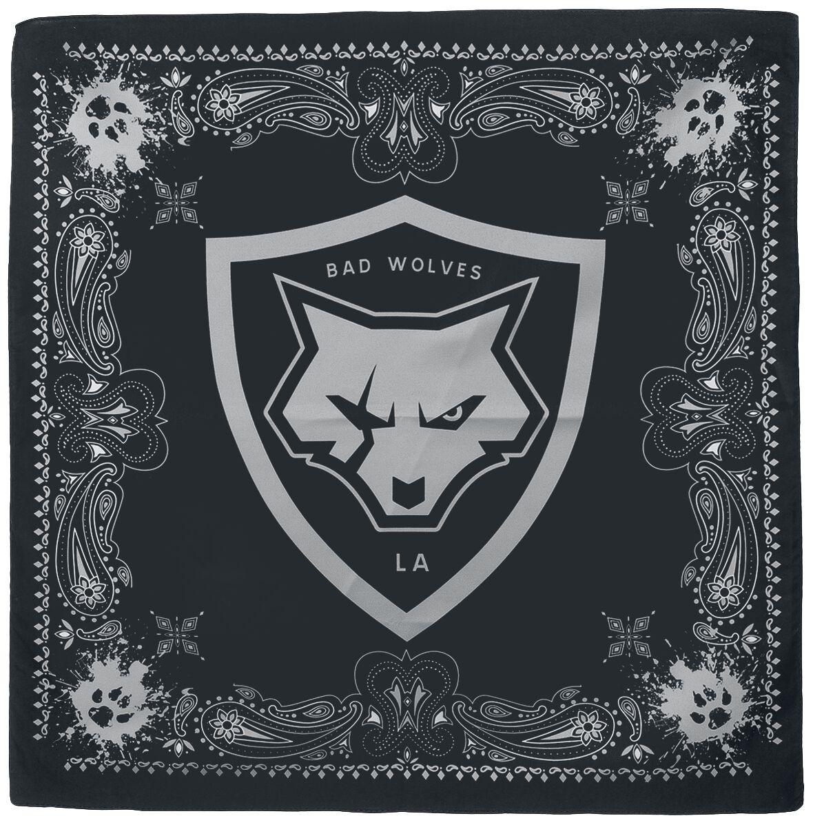 Image of Bad Wolves Shield and paws - Bandana Bandana schwarz