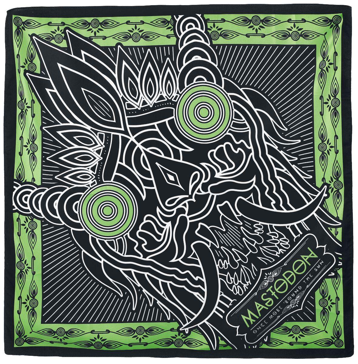 Mastodon Creature headline art - Bandana Bandana schwarz grün