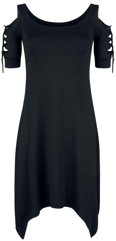Outer Vision Dress Bosnia Kurzes Kleid schwarz 10068-OV Woman's Dress Bosnia solid black
