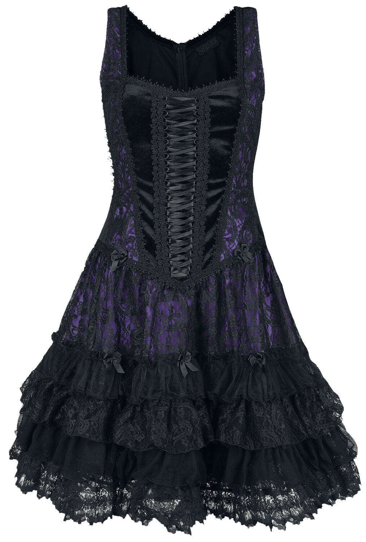 Sinister Gothic Gothic Lolita Minidress  Kurzes Kleid  schwarz/lila